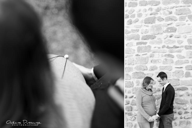 Photos de grossesse à la Tour de Mercurol - Drôme