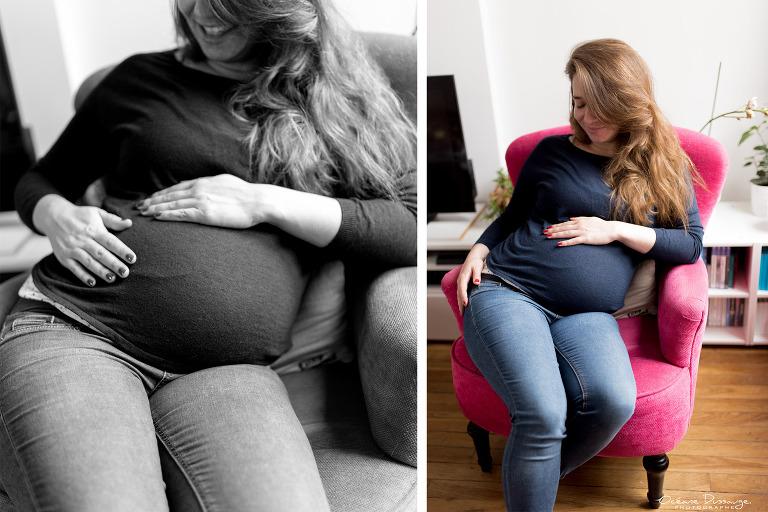 future maman et fauteuil rose