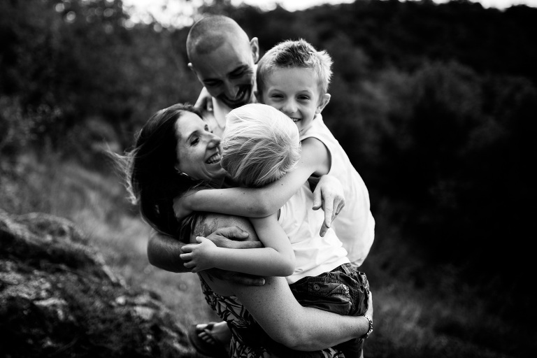 câlin familial